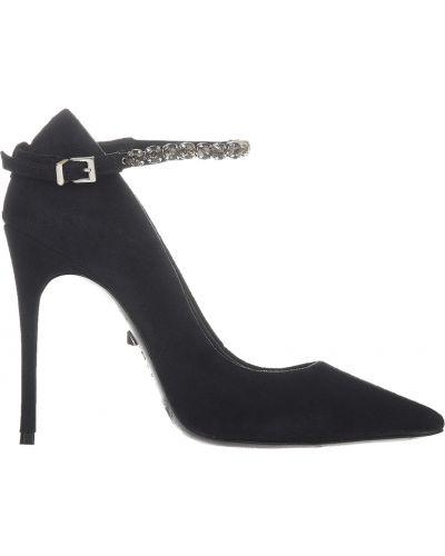 Кожаные туфли на каблуке замшевые Schutz