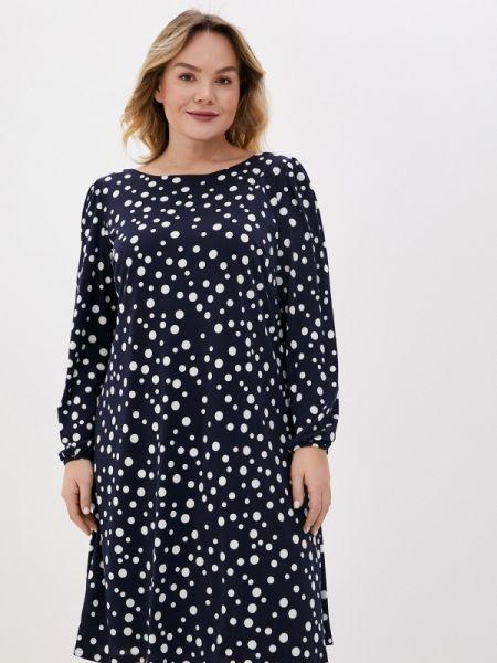 Повседневное платье синее весеннее Evans