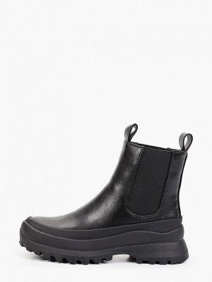 Черные кожаные ботинки Patrol