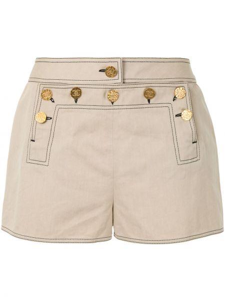 Хлопковые шорты на пуговицах Chanel Pre-owned