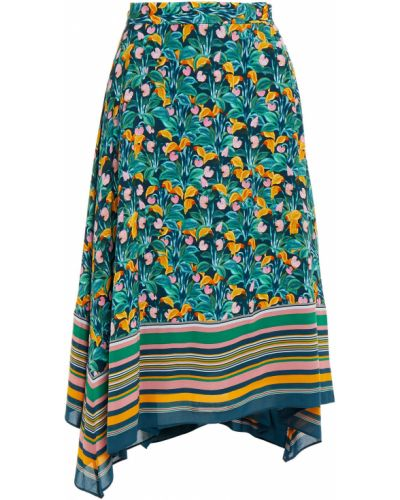 Асимметричная шифоновая юбка на крючках Diane Von Furstenberg