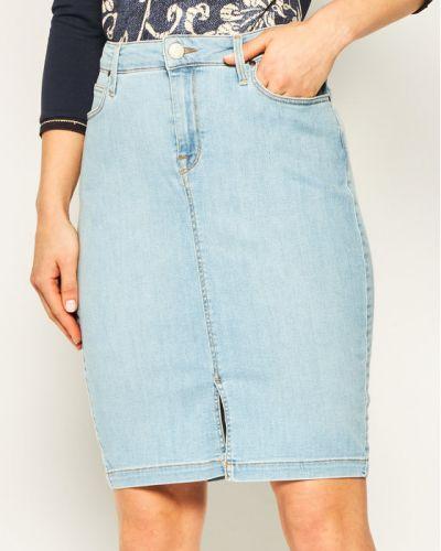 Niebieska spódnica ołówkowa Lee