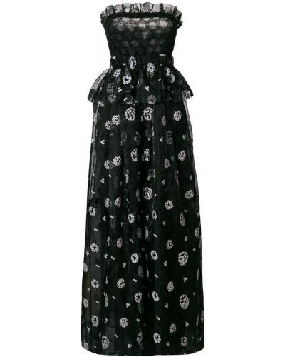 Черное пышное вечернее платье Si-jay