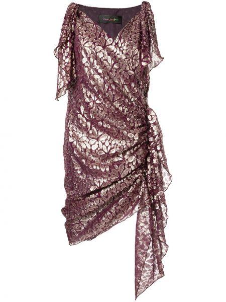 Приталенное шелковое платье миди с запахом на молнии Romance Was Born