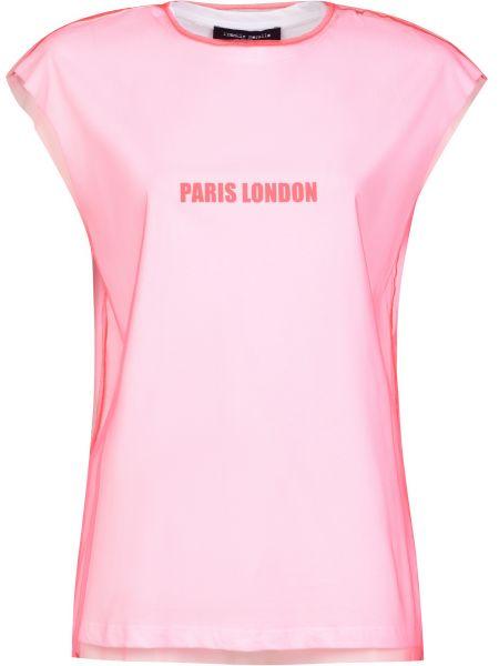 Нейлоновая розовая футбольная футболка Frankie Morello