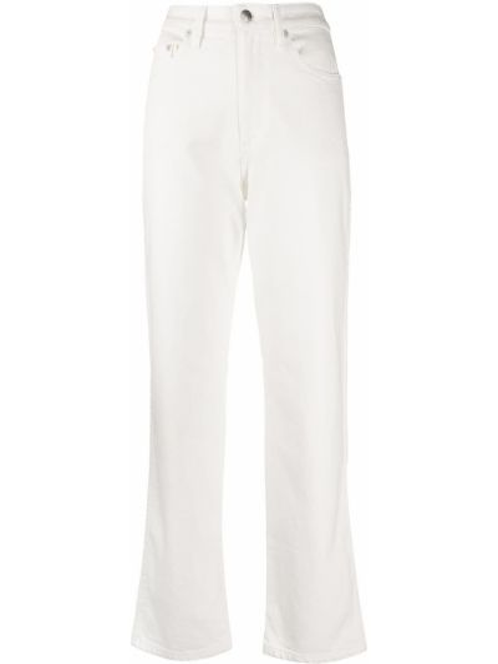 Mom jeans bawełniane - białe Simon Miller