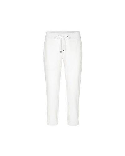 Спортивные брюки из полиэстера - белые Juvia