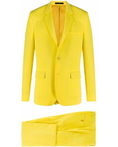 Костюмный желтый шерстяной костюм Paul Smith