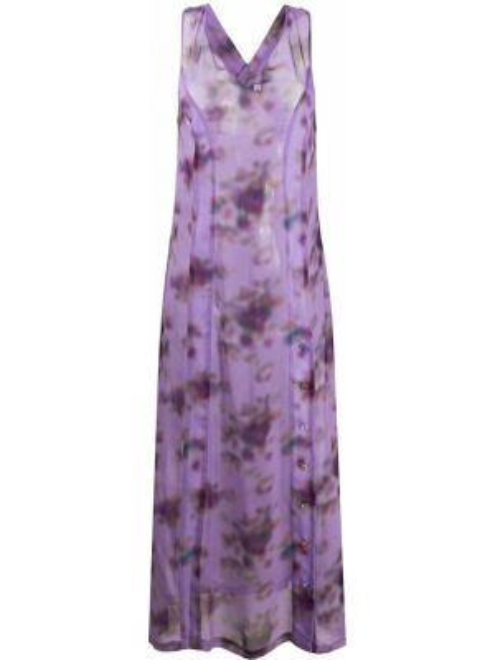 Платье макси длинное - фиолетовое Frankie Morello