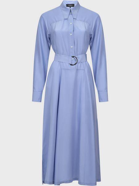 Шелковое платье - голубое Rochas