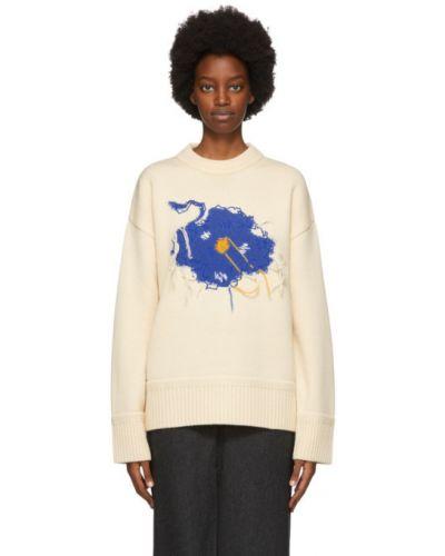 Długi sweter, biały Ader Error