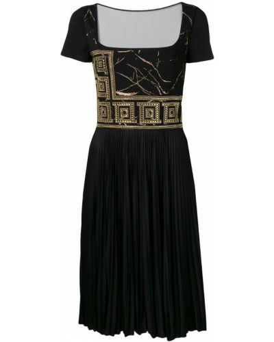 Платье мини короткое - черное Versace Collection