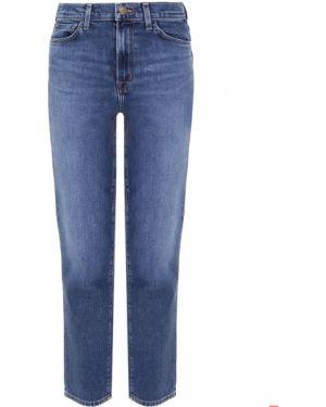 Укороченные джинсы синие с накладными карманами Jbrand