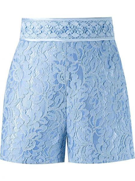 Шелковые синие ажурные шорты на шнурках Martha Medeiros