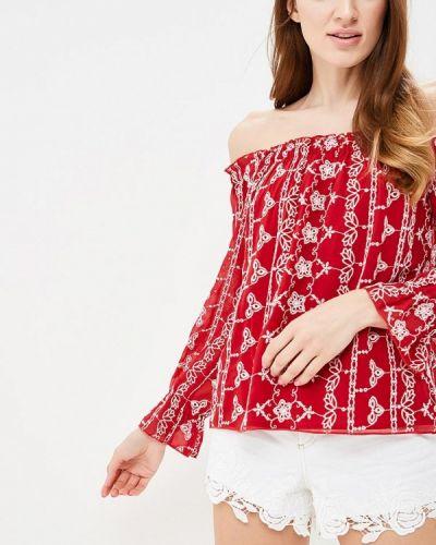 Блузка бордовый красная Miss Selfridge