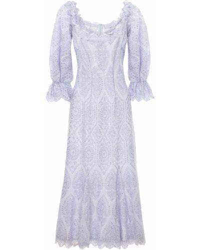 Расклешенное хлопковое приталенное платье макси Luisa Beccaria