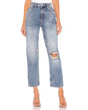 Прямые джинсы рваные скинни Free People