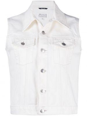 Хлопковая джинсовая куртка - белая Maison Margiela