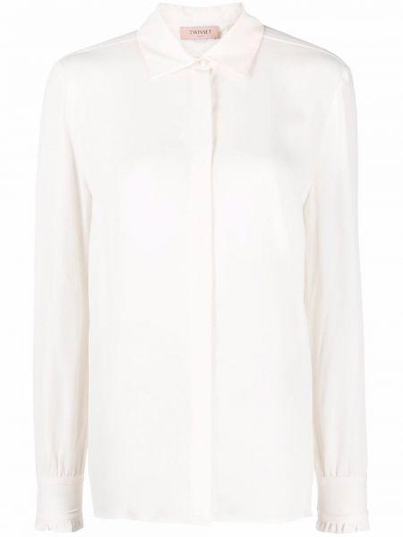 Biała koszula z długimi rękawami - biała Twinset