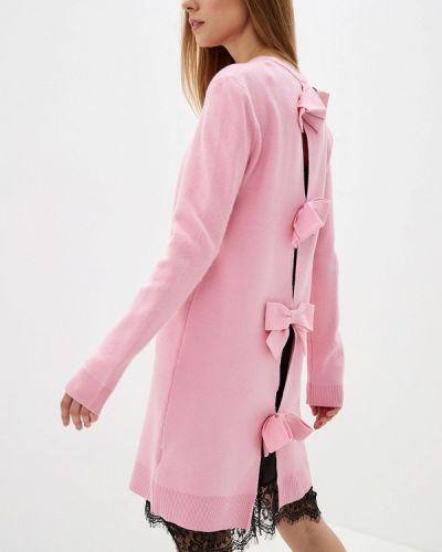 Платье розовое вязаное Silvian Heach