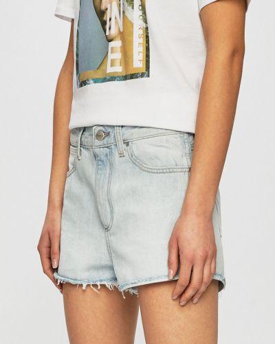 Джинсовые шорты с завышенной талией бирюзовый Wrangler