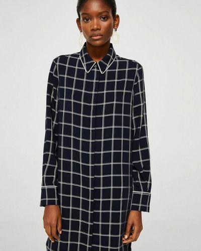 Черное платье рубашка Mango