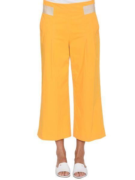 Хлопковые брюки - желтые Rene Lezard