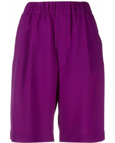 Фиолетовые хлопковые шорты с поясом Jejia