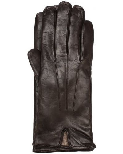 Коричневые кожаные перчатки Sermoneta Gloves