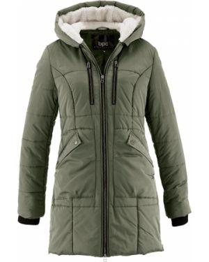 Стеганая куртка - зеленая Bonprix