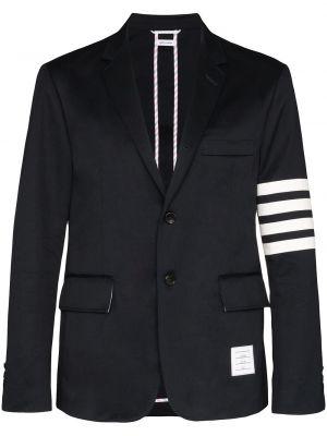 Коричневый однобортный пиджак с заплатками на пуговицах Thom Browne