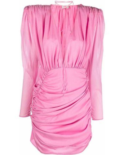 Różowa sukienka długa z jedwabiu Magda Butrym
