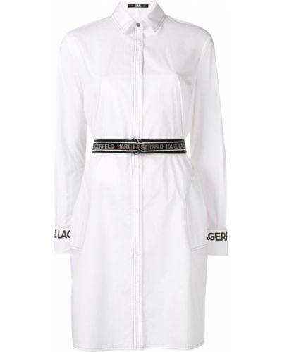 Платье с поясом на пуговицах с разрезами по бокам Karl Lagerfeld