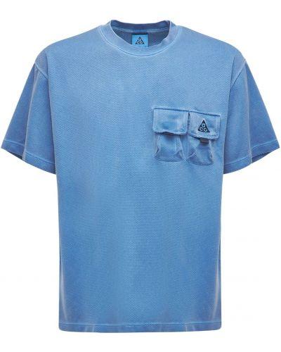 Лонгслив - синяя Nike Acg