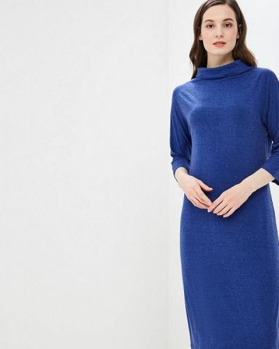 Платье осеннее синее Maria Rybalchenko