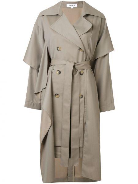 Długi płaszcz wełniany asymetryczny Enfold
