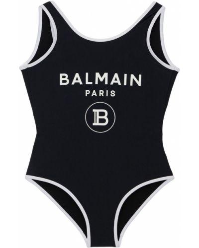 Czarny stroj kąpielowy jednoczęściowy Balmain