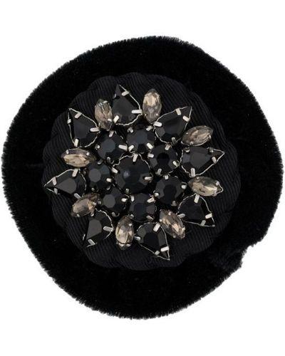 Брошь черная винтажная Chanel Vintage