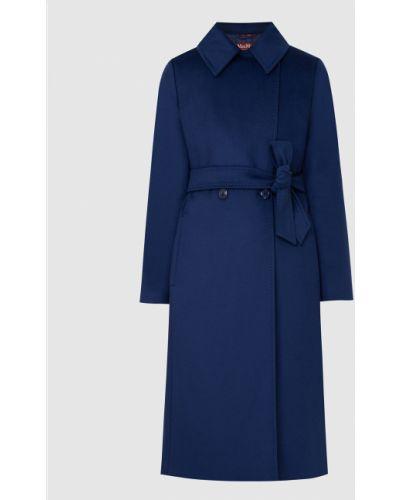 Синее шерстяное пальто Max Mara