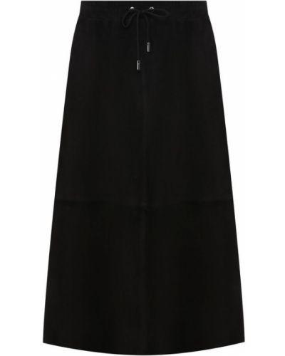 Кожаная юбка - черная Army Yves Salomon