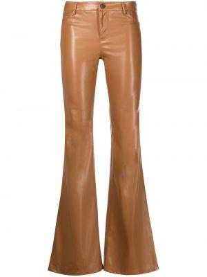 Классические брюки расклешенные - коричневые Alice+olivia