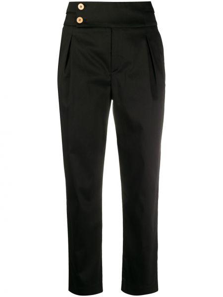 Spodnie z wysokim stanem elastyczne czarne L'autre Chose