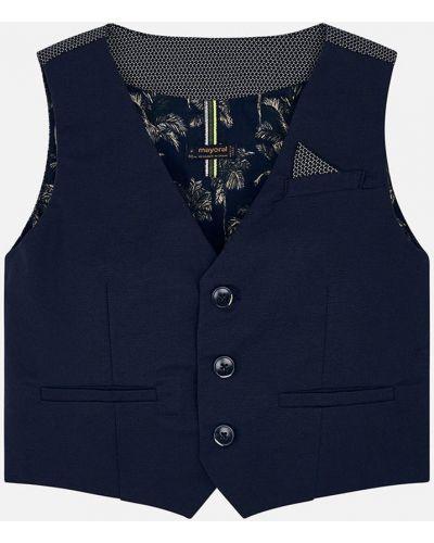 Пиджак синий на пуговицах Mayoral