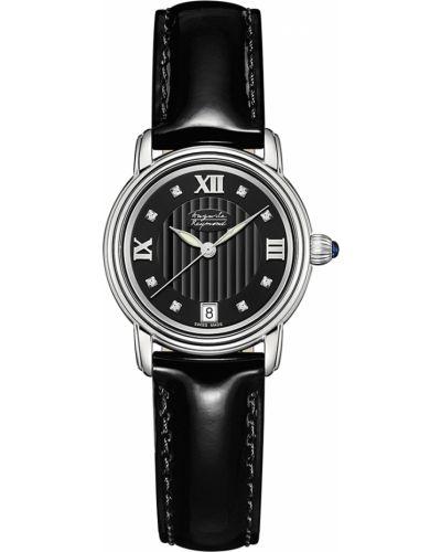 Водонепроницаемые часы черные на кожаном ремешке Auguste Reymond