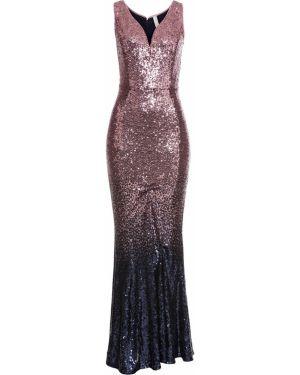 Платье макси с пайетками Bonprix