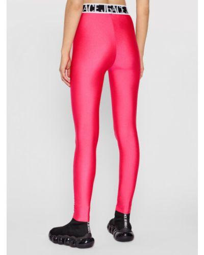 Różowe legginsy Versace Jeans Couture