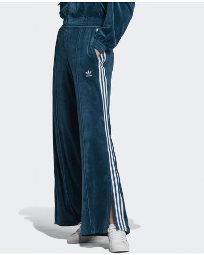 Спортивные брюки велюровые с карманами Adidas