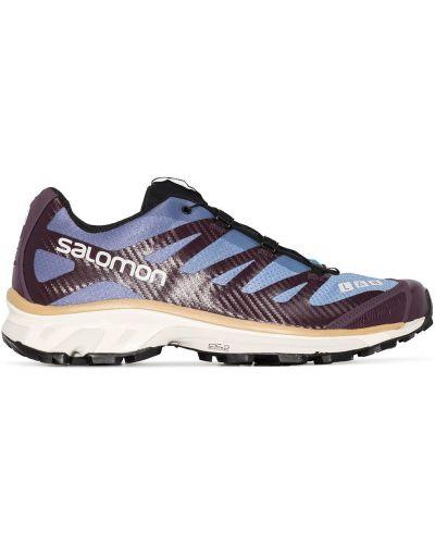 Синие кроссовки на шнурках сетчатые Salomon S/lab