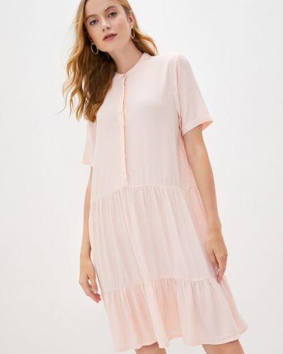 Прямое розовое платье Mbym