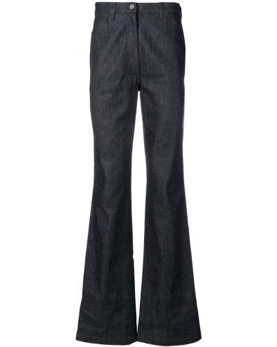 Расклешенные джинсы на пуговицах с аппликациями из вискозы A_plan_application